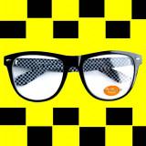 WAYFARER CLEAR LENS imprimeu SAH nerd geek tocilar retro rama neagra
