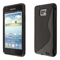 Husa Samsung Galaxy S2+ i9100 i9101 i9105 + folie + incarcator auto + stylus, Negru, Gel TPU