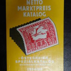 Catalog timbre - Special Austria Netto - contine si Monedele Austrieci