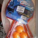 Palete tenis Yaping 1 stea +6 mingii numai 10 RON! - Paleta ping pong Nespecificat