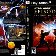 Joc original Star Wars Episode 3 pentru consola Sony Playstation 2 PS2 - Jocuri PS2 Rockstar Games, Arcade, Toate varstele, Multiplayer