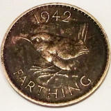 G5. ANGLIA MAREA BRITANIE FARTHING 1942, 2.8 g, Bronze, 20 mm, nr. 2 **, Europa, An: 1942