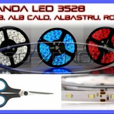 Iluminat decorativ ZDM - BANDA 60 LED LEDURI 3528 / METRU - ALB 6000K (ALBA), ROSU (ROSIE), ALBASTRU (ALBASTRA), GALBEN (GALBENA), RGB - IMPERMEABILA FLEXIBILA - PRET PE 10 CM