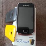 Telefon mobil Samsung Galaxy Mini 2, Negru, Orange - Samsung galaxy mini 2 impecabil