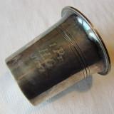 Pahar argintat, gravat 1937, poanson Danemarca, Vas