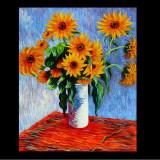 Pictura Claude Monet VASE OF SUNFLOWER reproducere