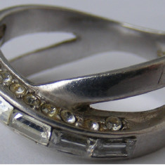 Inel argint - Inel vechi din argint cu pietre albe