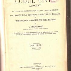Carte Drept penal - C.Hamangiu-Codul civil volumul1 -articolele 1-643