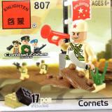 Transeu de armata tip lego, 17 piese, jucarie constructiva, Enlighten 807