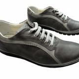 Pantofi dama piele naturala Gitanos-543-gri - Adidasi dama, Marime: 37