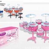 Set 8 tobe si doua baterii roz (cel mai ieftin) - Instrumente muzicale copii