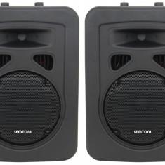ECHIPAMENT COMPLET KARAOKE COMPUS DIN 2 BOXE, AMPLIFICATOR CU STICK, CARD, EFECTE SI SET 2 MICROFOANE KARAOKE. - Echipament karaoke Altele