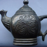 SOLNITA VECHE DE COLECTIE Godinger ARGINTATA - Metal/Fonta, Vase