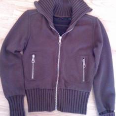 Pulover bluza ZARA original gros stil jacheta masura S aproape nou - Pulover dama Zara, Culoare: Maro, Maro