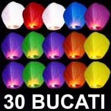 Decoratiuni nunta - LAMPIOANE ZBURATOARE LAMPIOAN 30 LAMPIOANE COLORATE+ 2 LAMPIOANE INIMA ROSIE