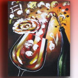 Tablou bar, bucatarie - Cheers 3 - 60x50cm LIVRARE GRATUITA 24-48h - Reproducere