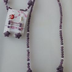 SET AMETIST, CRISTALE SWAROVSHI si ACCESORII METALICE ARGINTATE - Set bijuterii handmade si fashion
