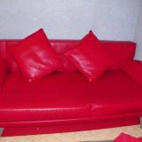 Canapea cu 2 fotolii, Canapea in stil clasic, Canapele extensibile, Din piele ecologica