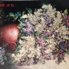 Tablou, Peisaje, Altul - Pictura in relief Isaac Berliner - Liliac