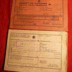 Pasaport/Document, Romania de la 1950 - Carnet cu Cupoane CFR 1956, pt.extern, calatorie in Ungaria