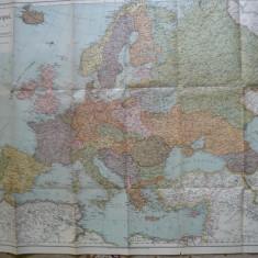 Harta - Europa - noua impartire geografica conform deciziunilor conferintei de pace din Paris - 1920