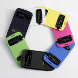 Husa S-View Samsung Galaxy S3 SIII i9300 i9305 + folie + stylus - Husa Telefon Samsung, Albastru
