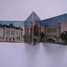 Bucuresti, 10 ilustrate / vederi / carti postale color, tip leporello