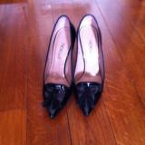 Pantofi dama, Marime: 39, Negru - Pantofi din piele lacuita marca Noelle