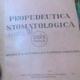 Carte Medicina - E. Costea, L. Ene si St. Dumtru - Propedeutica Stomatologica