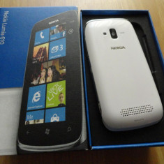 Nokia Lumia 610 - Telefon mobil Nokia Lumia 610, Alb, Vodafone
