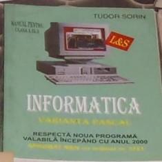 Tudor Sorin - Informatica - varianta pascal cls a IX-a - Carte software