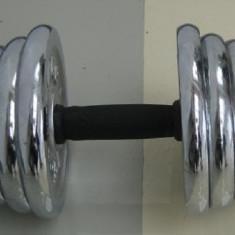 Set Gantere 30 kg Cromate ( 2x15 kg pe Brat ) - LIVRARE GRATUITA IN BUCURESTI UNDE DORITI DVS.!!!