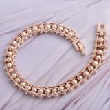 Bratara dama ocazie aur filat roz - gold filled 1/20 aur 14k (mai rezistenta decat placata) model bilute, 20cm latime 8mm , noua