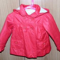 Jacheta Zara baby rosu-fuchsia fetite - 18-24 luni (potrivita pana la 2, 5 ani), Marime: XS
