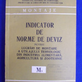 INDICATOR DE NORME DE DEVIZ PENTRU LUCRARI DE MONTARE A UTILAJULUI TEHNOLOGIC DIN INDUSTRIA ALIMENTARA,AGRICULTURA SI ZOOTEHNIE ( M6 ) - 1981