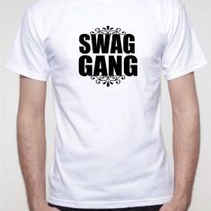Tricou barbati, Maneca scurta, Bumbac - Tricou Swag Gang hipster