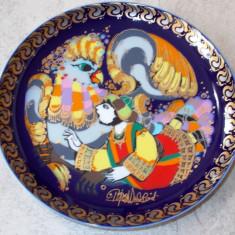 Farfurie - decorativa / de colectie - portelan Bavaria - Rosenthal - Sinbad Marinarul - Nr.3, Farfurii