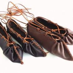 Balerini dama - Opinci piele maro