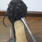 Sandale dama - Pantofi negri LA STRADA 36