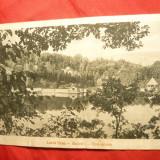 Ilustrata Baile Sovata - Lacul Ursu anii '20- Foto Schnitzer Artur - Carti Postale Romania dupa 1918