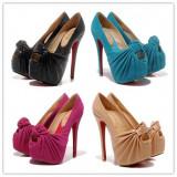 Pantofi dama Christian Louboutin, Piele naturala - Pantofi decupati CHRISTIAN LOUBOUTIN Lady Gres - PIELE NATURALA