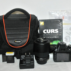 Vand Nikon D3100 + AF-S 55-200 mm VR + GEANTA - IMPECABIL - Aparat Foto Nikon D3100