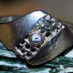 Inel argint - Inel extravagant argint 925 placat aur alb cu Peridot verde intens natural!!!