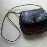 Geanta din piele naturala de bivol Traditionala - Geanta handmade