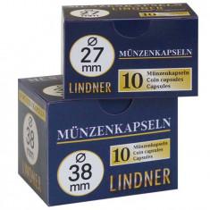 CUTIE CAPSULE pentru monede ( 10 buc ) LINDNER Ǿ 24 mm