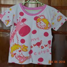 Pijama de vara cu girafa roz
