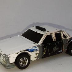 Macheta HOT WHEELS Crack - ups, Police Car, fabricata in Hong Kong, 1983 - Macheta auto