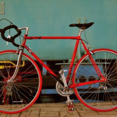 Cursiera vintage MBK - Bicicleta retro, 22 inch, 28 inch, Otel, Rosu