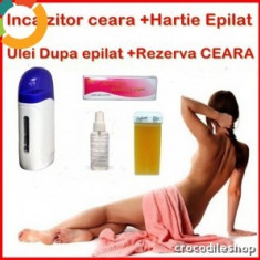 Ceara epilare BeautyUkCosmetics - KIT EPILARE EPILAT APARAT CEARA UNICA FOLOSINTA INCALZITOR+ULEI