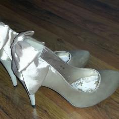 Pantofi dama, Marime: 39, Ivoire - Pantofi mireasa / ocazii speciale / nunta